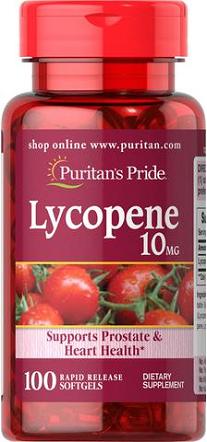 Puritan's Pride Lycopene 10 mg/ 100 Softgels