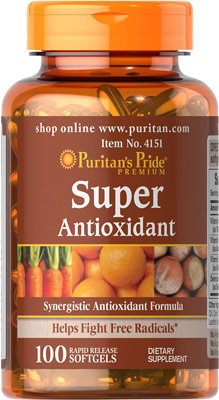 Puritan's Pride Super Antioxidant/ 100 Softgels