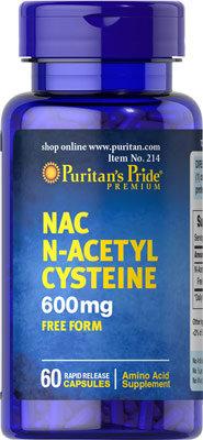 Puritan's Pride N-Acetyl Cysteine 600 mg/ 60 Caps