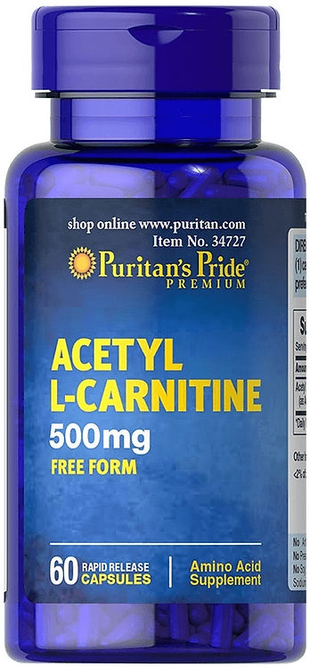 Puritan's Pride Acetyl L-Carnitine 500 mg/ 60 Capsules