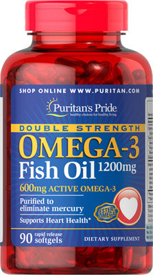 Puritan's Pride Omega-3 Fish Oil 1200 mg/ 90 Softs