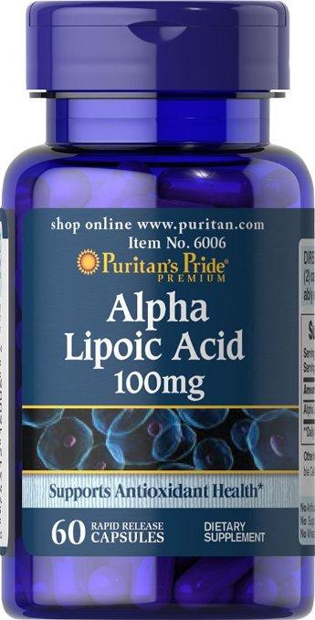 Puritan's Pride Alpha Lipoic Acid 100 mg/ 60 Caps