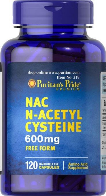 Puritan's Pride N-Acetyl Cysteine 600 mg/ 120 Caps