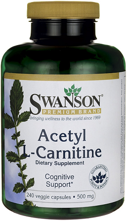 Swanson Premium Acetyl L-Carnitine 500 mg/ 240 Vcp