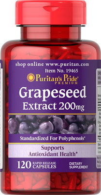Puritan's Pride Grapeseed Extract 200 mg/ 120 Caps