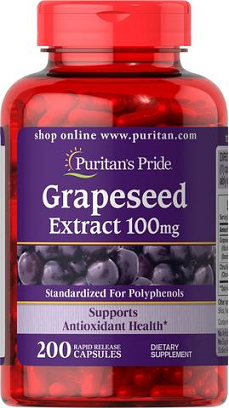 Puritan's Pride Grapeseed Extract 100 mg/ 200 Caps