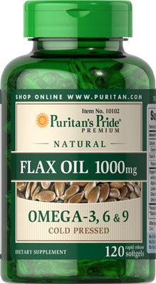 Puritan's Pride Flax Oil 1000 mg/ 120 Softgels
