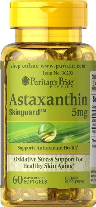 Puritan's Pride Natrural Astaxanthin 5 mg/ 60 Sgel