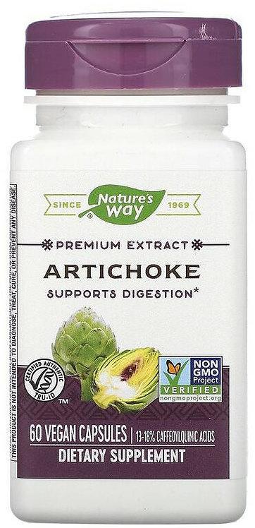Nature's Way Standardized Artichoke Extract 600 mg with Milk Thistle 60 Veg Caps