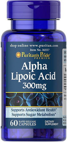 Puritan's Pride Alpha Lipoic Acid 300 mg/ 60 Caps