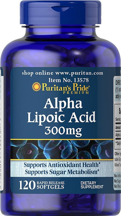 Puritan's Pride Alpha Lipoic Acid 300 mg/120 Softs