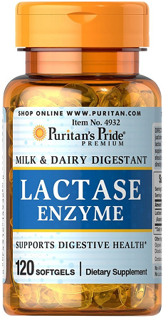 Puritan's Pride Lactase Enzyme 125 mg/120 Softgels