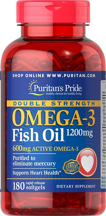 Puritan's Pride Omega-3 Fish Oil 1200mg/ 180 Softs