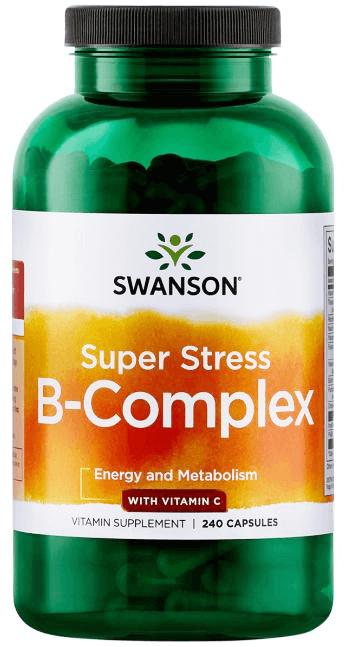 Swanson Super Stress Vitamin B+Vitamin C/ 240 Caps