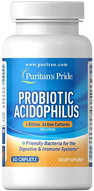 Puritan's Pride Probiotic Acidophilus 4 billion/ 60 Caplets