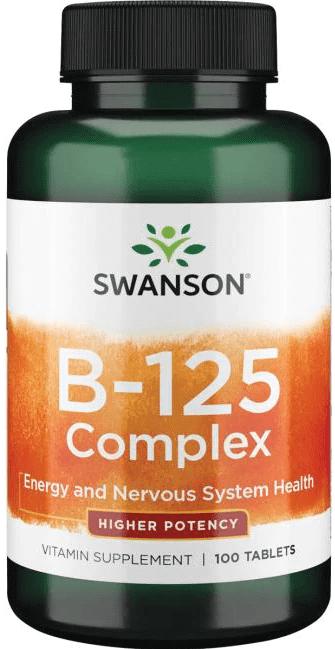 Swanson Timed-Release Vit B-125 Complex 100 Tabs
