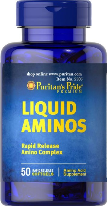 Puritan's Pride Liquid Aminos 50 Softgels