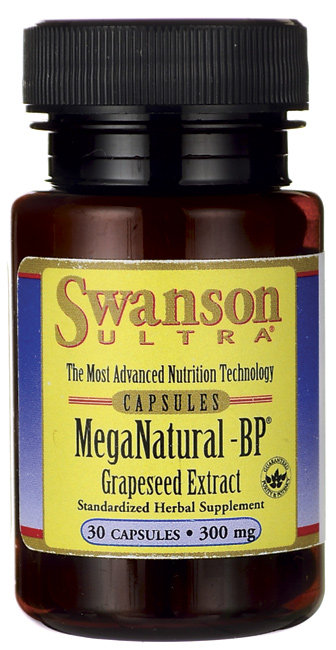 Swanson MegaNatural-BP Grapeseed Extract 30 Caps