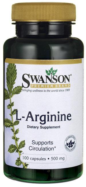 Swanson Premium L-Arginine 500 mg/ 100 caps