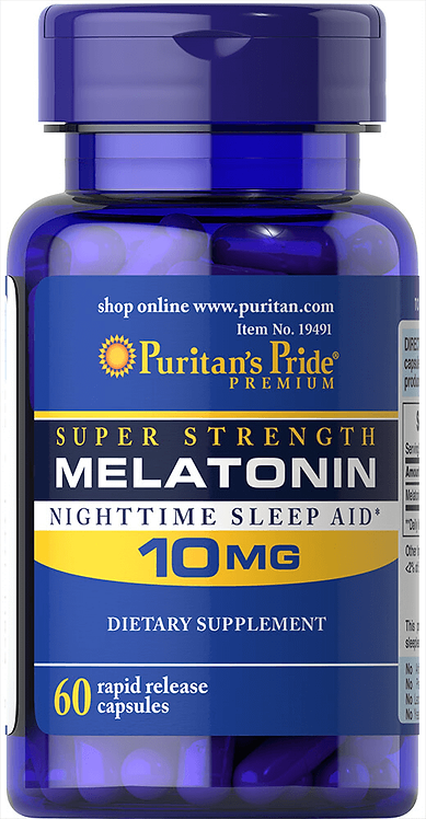 Puritan's Pride Melatonin 10 mg/ 60 Capsules