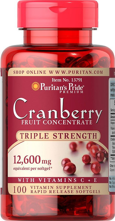 Puritan's Pride Cranberry 12600 mg/ 100 Softs