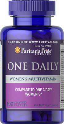 Puritan's Pride Women's One Multivitamins/100 Caps