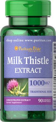 Puritan's Pride Milk Thistle 1000 mg/ 90 Softgels
