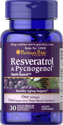 Puritan's Pride Resveratrol & Pycnogenol® 30 Softs
