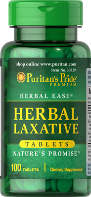 Puritan's Pride Herbal Laxative/ 100 Tablets