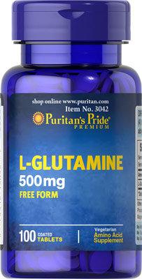 Puritan's Pride L-Glutamine 500 mg/ 100 Tablets