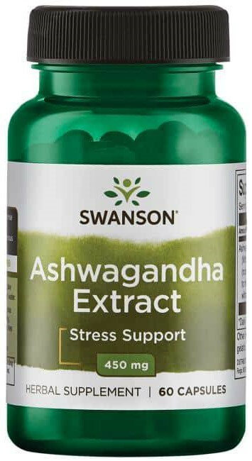 Swanson Superior Herbs Ashwagandha Extract Standardized 450 mg/ 60 Caps