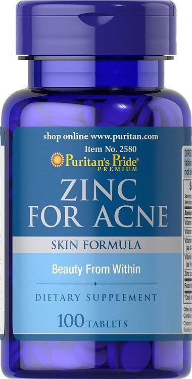 Puritan's Pride Zinc for Acne 100 Tablets
