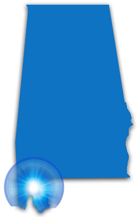 map of alabama
