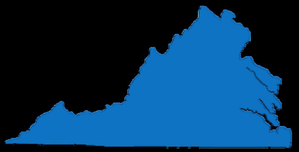 Map of virginia locations