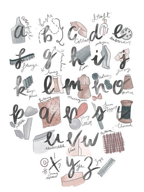 PDF Digital Download The Dressmaker's Alphabet