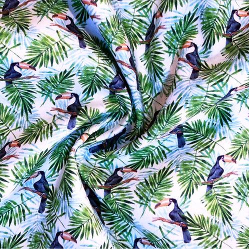 Tropical Toucans Printed Cotton