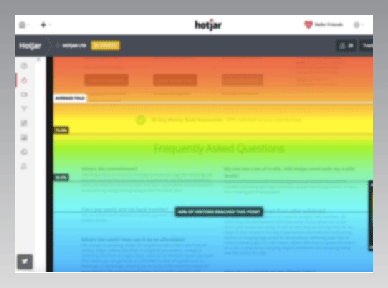 Hotjar interface