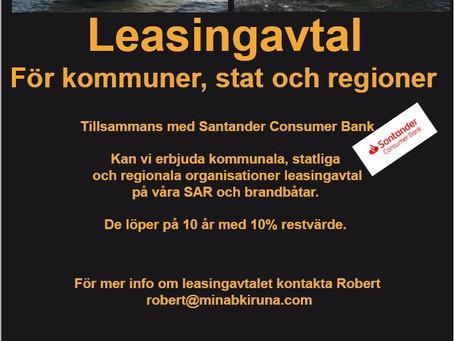 Leassingavtal för myndigheter och kommuner
