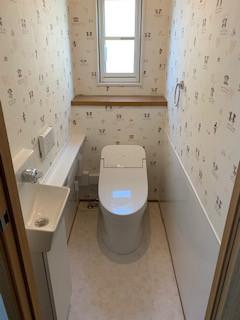 タンクレストイレ取り替えました。