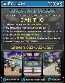 Việc Làm - Luxx Nail Salon (Fort Worth,