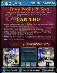 Việc Làm - Envy Nails & Spa (Sioux Falls