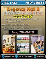 Việc Làm - Elegance Nail II (Middlesex,