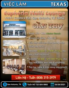 Việc Làm - Euphoria Nails Lounge (San An