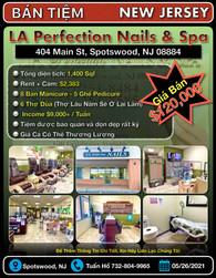 Bán Tiệm - LA Perfection Nails & Spa (Sp