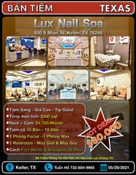 Bán Tiệm - Lux Nail Spa (Keller, TX 7624