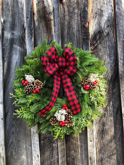 Maine Lumberjack Wreath