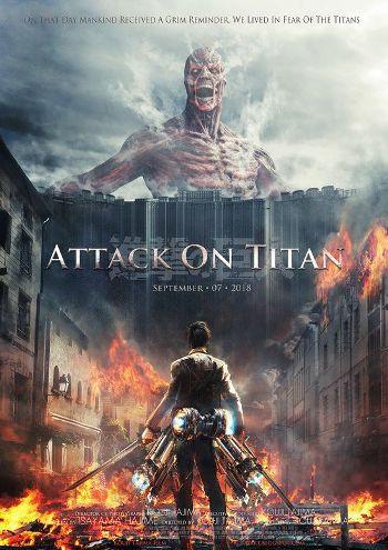 Attack on Titan (2015) BrRip 720p Dual Audio In [Hindi Japanese]