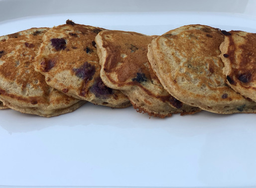 Blueberry-Lemon Protein Pancakes