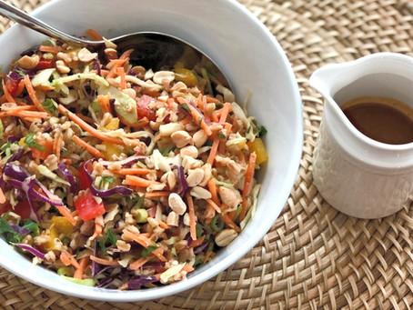 Thai Farro and Vegetable Salad