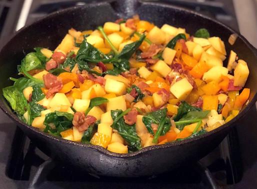 Veggie, Bacon and Sweet Potato Hash